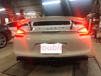 Double b 保時捷 Porsche 981 987 718 改 GT4 尾翼 另有碳纖維尾翼 台灣製造 完美密合度