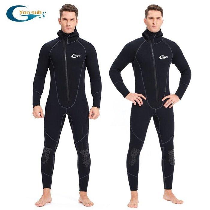 【購物百分百】5mm長袖連體潛水衣 保暖潛水服 防寒衣 潛水衣 游泳衣 防曬衣 潛水裝備