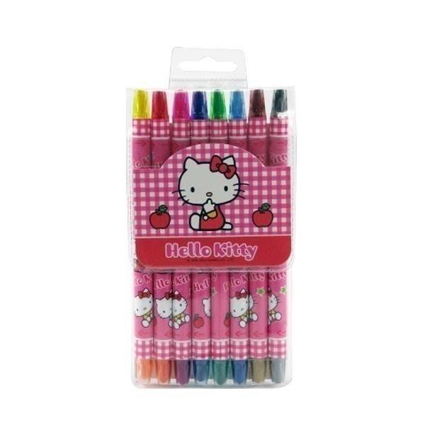 《東京家族》桃紅 Kitty 雙頭16色旋轉蠟筆