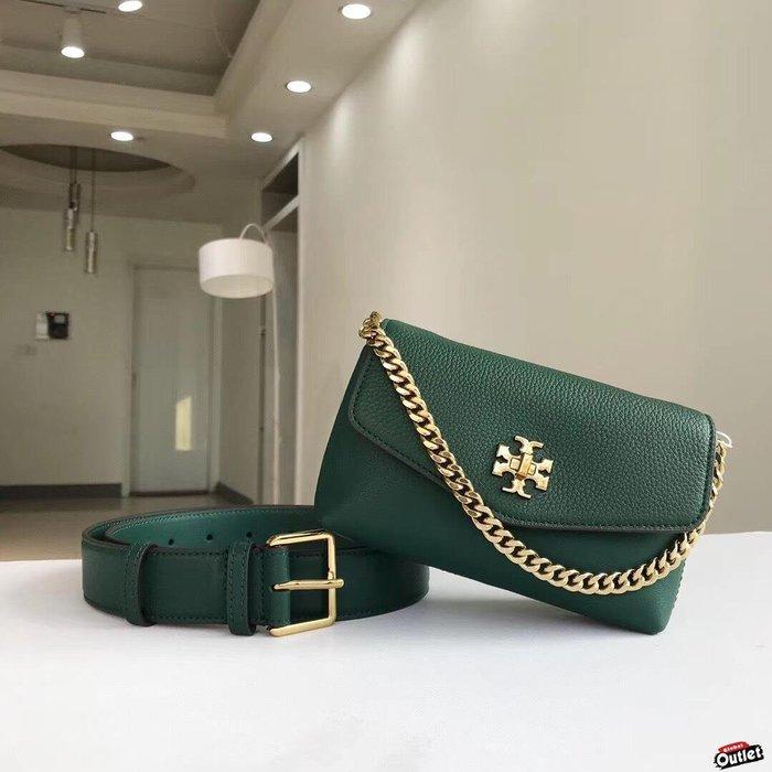 【全球購.COM】TORY BURCH TB 2019新款雙用包 綠色腰包 手提包 美國Outlet代購