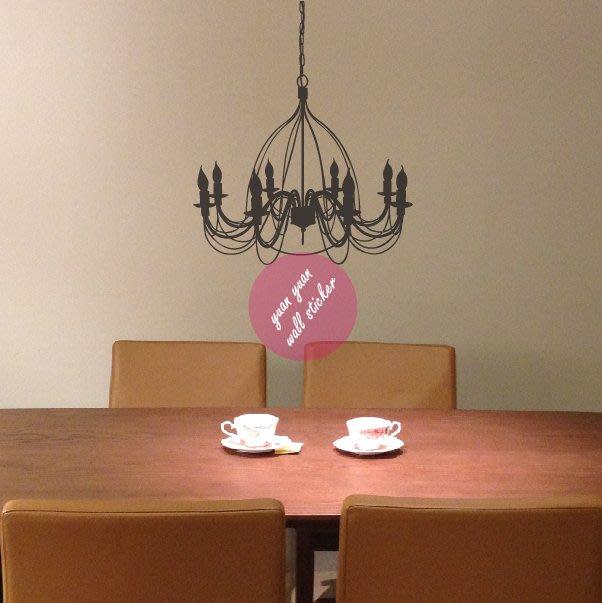 【源遠】古典蠟燭吊燈 【F-09】壁貼 設計 裝潢 璧紙 璧貼 室內設計 時尚 風格 情調
