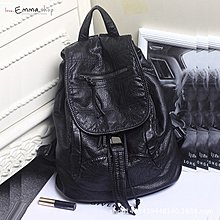 EmmaShop艾購物-正韓軟軟皮革雙肩後背包/韓妞必備款/媽媽包