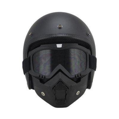 個性酷哈雷復古頭盔男機車3/4半盔電動摩托車安全帽女配面罩風鏡