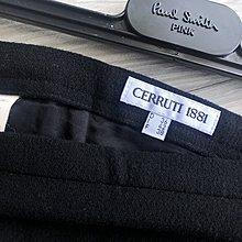 原價兩萬多 歐碼38【CERRUTI 1881】夏綠蒂白標黑色側魚尾羊毛長裙