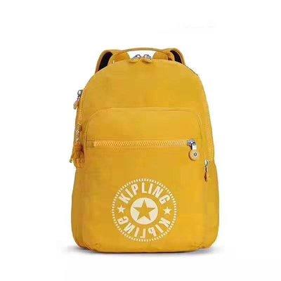 Kipling 猴子包 K12630 K21305 黃色 大款 拉鍊後背包 旅遊包 休閒 輕量 耐磨 防水