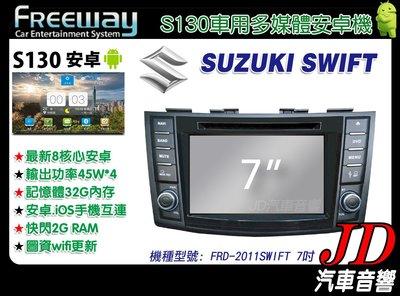 【JD 新北 桃園】FREEWAY SUZUKI SWIFT 2011 DVD/數位/導航/藍芽 7吋 S130。安卓機