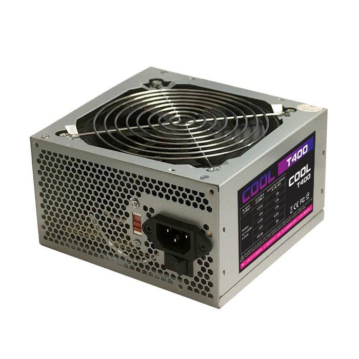 【捷修電腦。士林】新品上市 COOL-T400 400W 電源供應器 POWER 超靜音 安規認證 電腦電源 一年保固