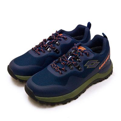 利卡夢鞋園–LOTTO 專業防水郊山戶外越野跑鞋--FALCO隼系列--藍綠橘--2556--男