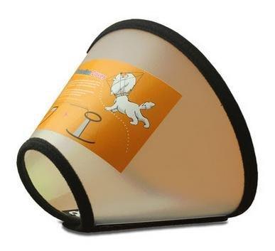 【寵物脖套-伊莉莎白防咬圈-軟塑膠-4號-頸圍28-31cm】狗狗項圈 貓脖圈狗脖套 寵物防抓舔咬 -79013