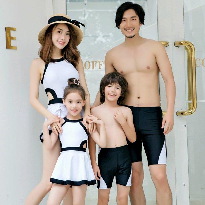 韓國Baby~歐鯊親子游泳衣母女家庭裝兒童寶寶2019新款正韓保守溫泉女童公主