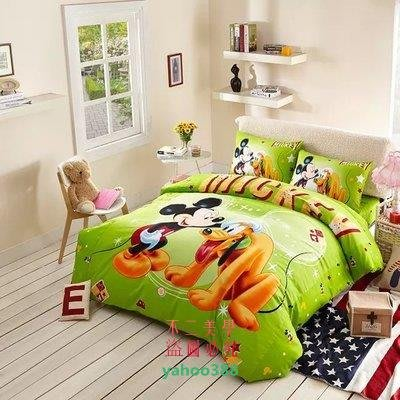 美學75迪士尼活性全棉卡通床上三四件套星際寶貝史迪奇麥昆  米奇和狗❖10