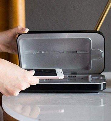 黑色 刷卡免運 ※台北快貨※最新三代PhoneSoap 3手機UV殺菌消毒器+充電S10 Plus Note10