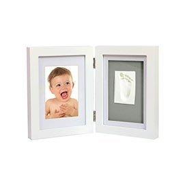 【魔法世界】Adora 珍愛回憶系列-寶寶手足模印相框(極簡桌上型-優雅白)