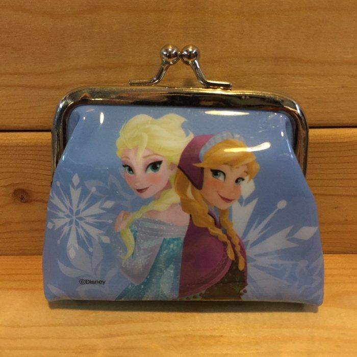 (I LOVE樂多)Disney 迪士尼 冰雪奇緣 Frozen 艾莎 ELSA 安娜 ANNA 零錢包 雙珠扣式零錢包