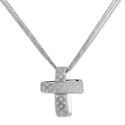 【JHT金宏總珠寶/GIA鑽石專賣】 天然十字架鑽石項鍊/材質:18K(JB50-A05)