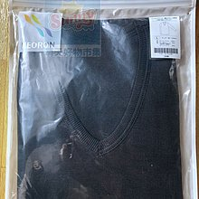 (現貨不用等)日本 妮芙露 UW166+ UW167 男士(薄)V領長袖上衣+長褲一整套 尺寸:LL 黑色 滿萬有折扣