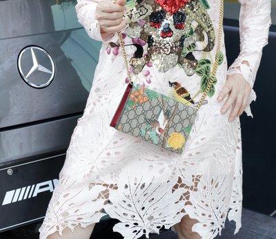 Gucci 424891 Tian printed canvas Bag 花卉鍊帶肩背包 現貨