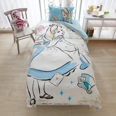 迪士尼Diseny 《預購》愛麗絲夢遊仙境 愛麗絲公主 單人三件式床包組~日本正品~心心小舖