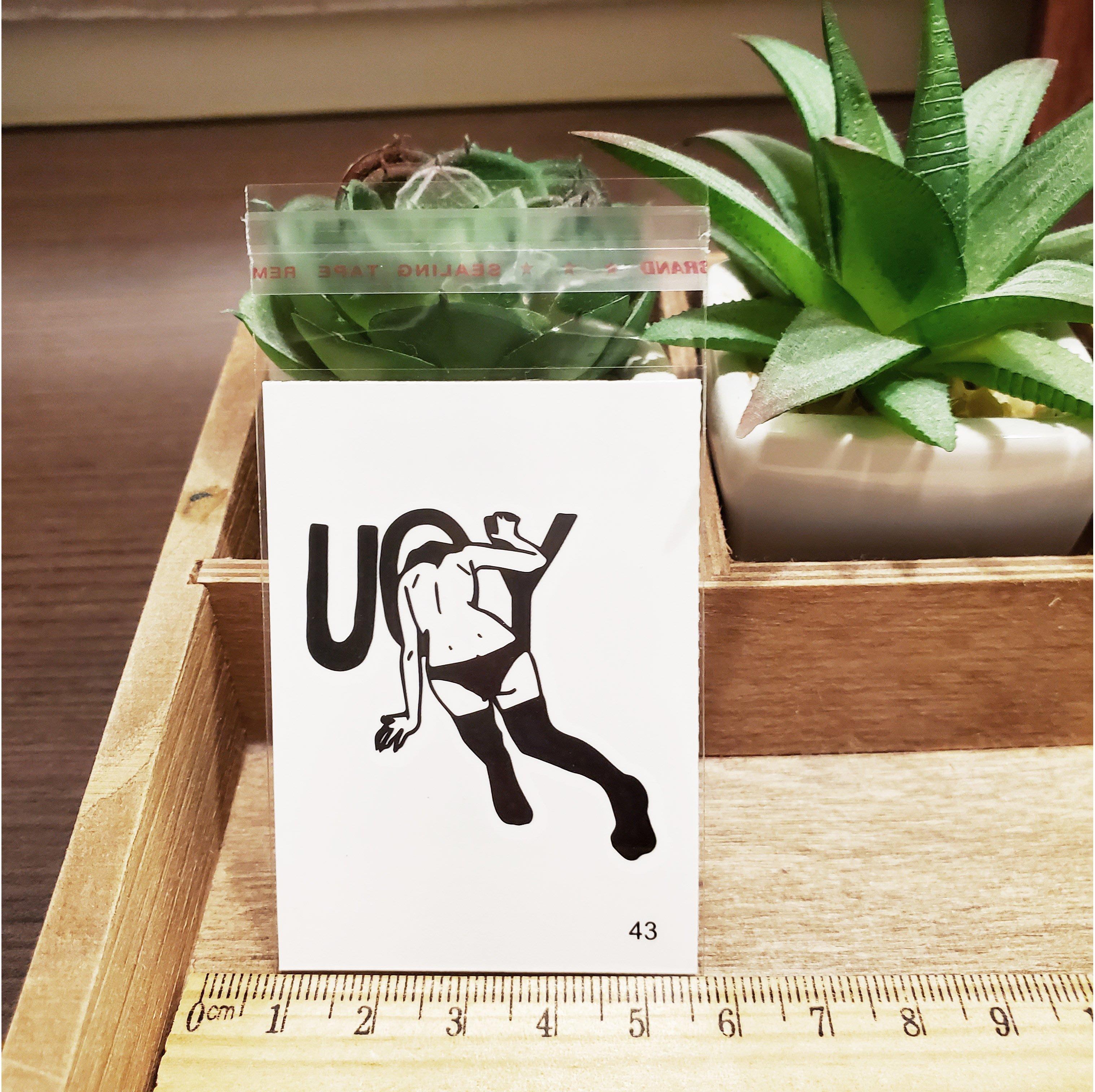 【萌古屋】百態人生43單圖 - 男女防水紋身貼紙刺青貼紙 K43