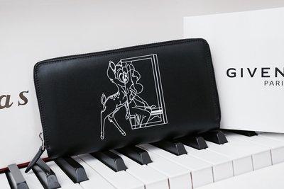 Givenchy Zip Wallet 小鹿班比拉鍊長夾 黑 現貨