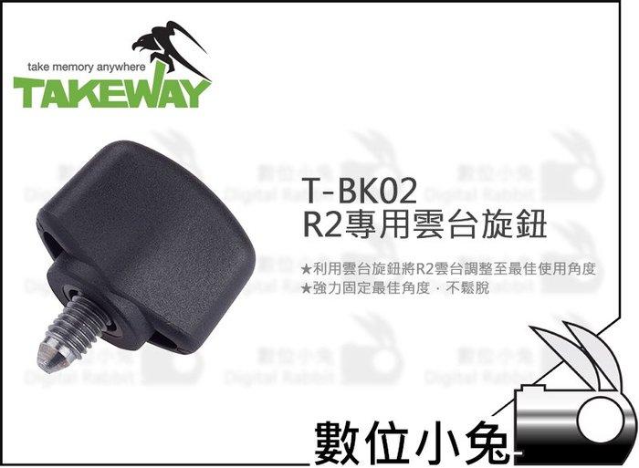 數位小兔【Takeway T-BK02 R2專用雲台旋鈕】R2 鉗式運動夾 固定 T-B02 配件 雲台
