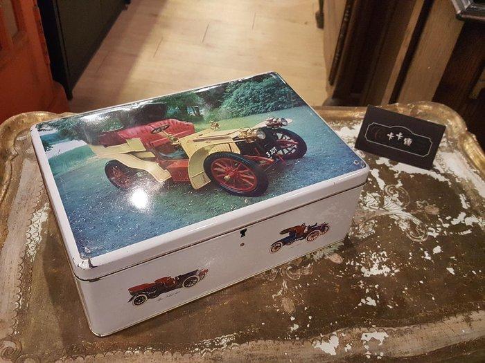 【卡卡頌 歐洲跳蚤市場/歐洲古董】歐洲老件_古董車 彩色手繪感 附鑰匙 鐵盒 餅乾盒 小物收納盒 m0529 提供租借✬