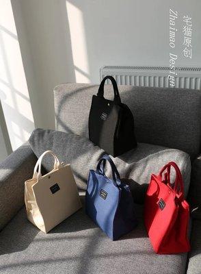伊媽小舖-加厚帆布便當包,手拿包,學生課本包、有四款顏色