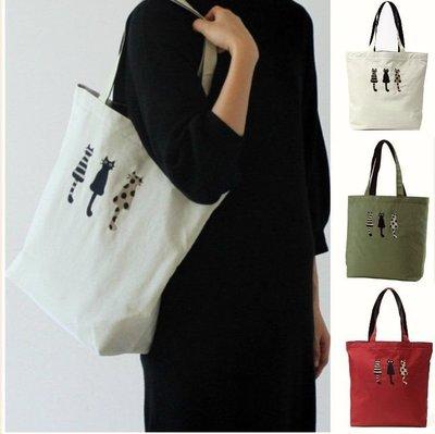 ❈花子日貨❈日本製,設計師品牌,ATSUKO MATANO,保野溫子,仲良貓,貓咪,刺繡,肩背包,包包,共3色