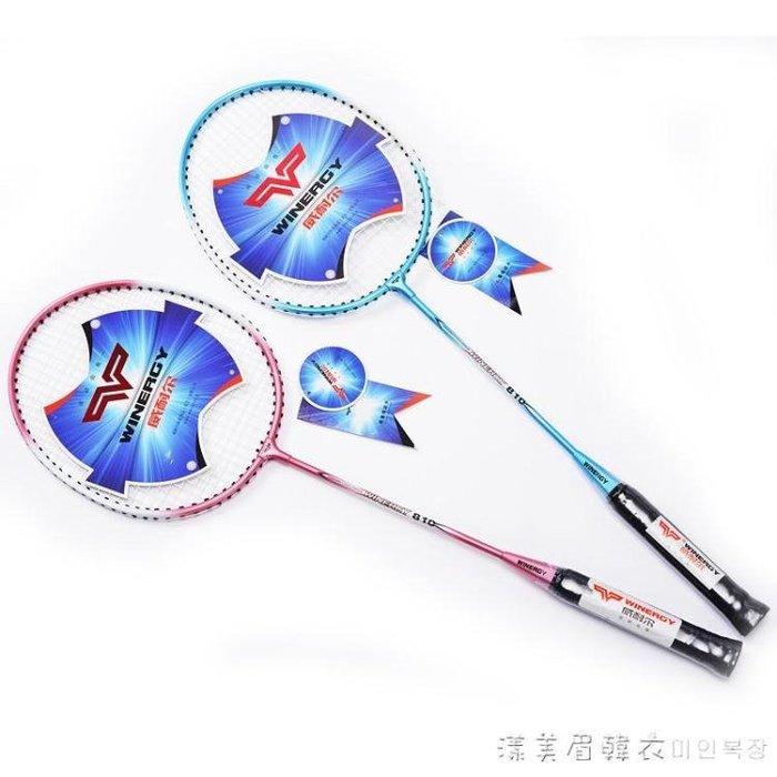 羽毛球拍雙拍2支裝家庭學生鋼性復合球拍送拍 NMS