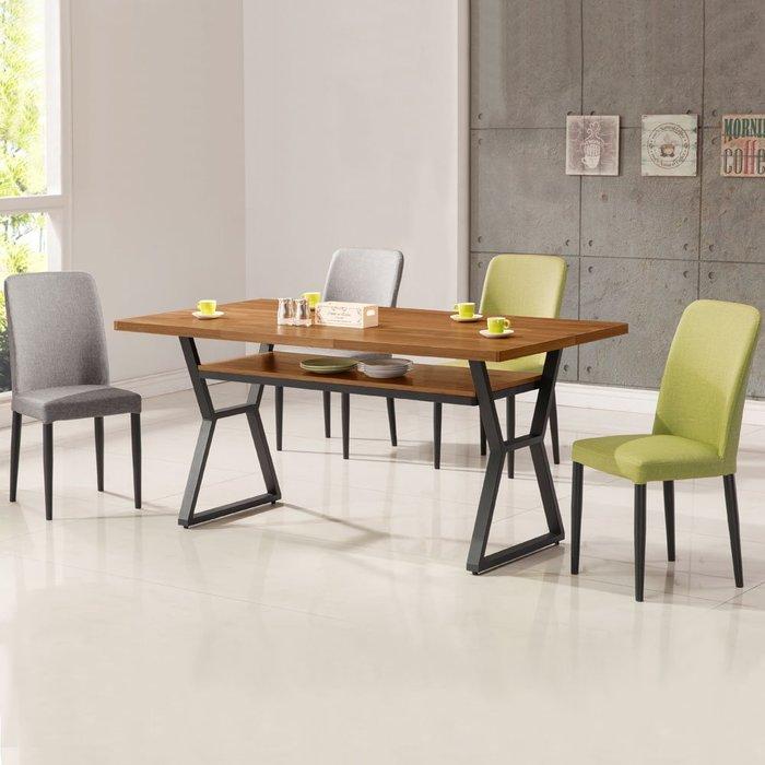 愛德琳工業風5尺餐桌椅組(一桌四椅) 會議桌椅 【Yostyle】DS-1723-2924