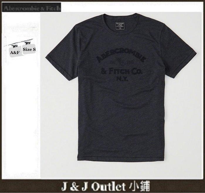 [JJ Outlet 小舖 A&F 特賣]100%真品全新 Abercrombie&Fitch 立體貼字棉T(S號)