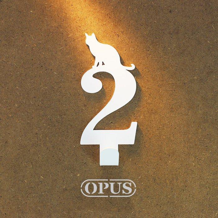 當貓咪遇上數字2《優雅白》壁飾掛勾 號碼無痕掛鉤 居家收納 牆面裝飾壁掛【OPUS東齊金工】HO-nb12-2(W)