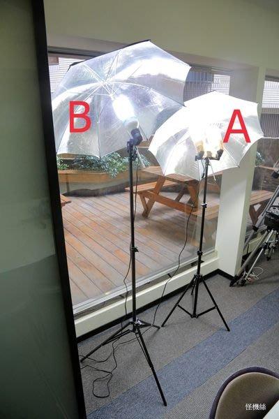 怪機絲 超亮 傘燈 攝影燈 雙頭攝影燈 雙頭攝影燈  體積輕巧 輕便好收納 含 柔光燈傘 燈架
