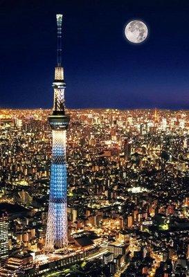 日本進口拼圖專賣店_300片拼圖 風景 東京天空樹 夜景景觀 日本 93-146