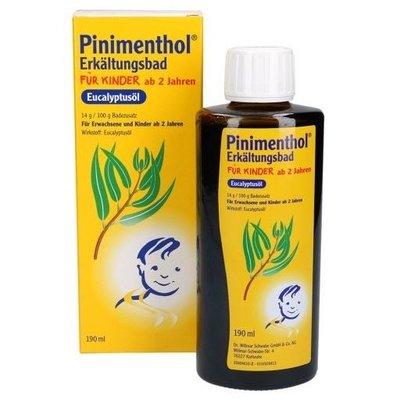 德國 Pinimenthol 兒童感冒泡澡精油 190ml