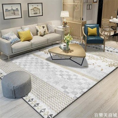 精選  北歐簡約地毯客廳現代沙發茶幾地墊房間可愛臥室床邊毯滿鋪長方形