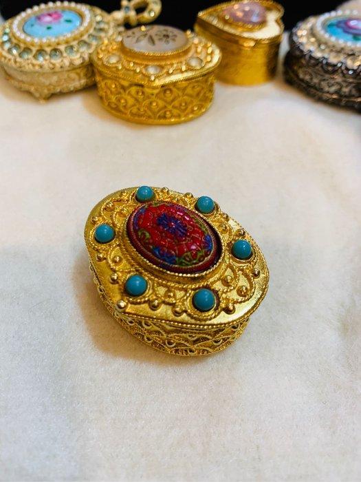 Florenza金色拉絲珠寶盒、飾品盒F486