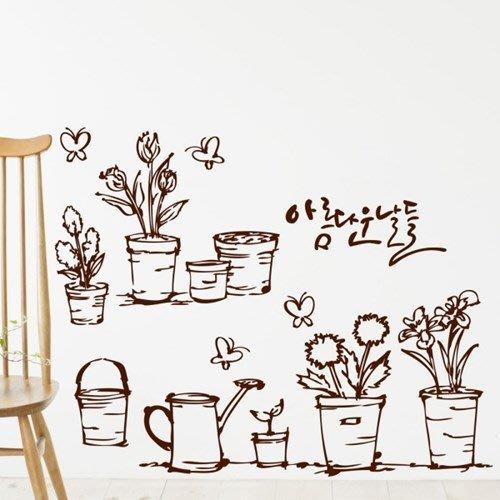 小妮子的家@自然樹苗壁貼/牆貼/玻璃貼/磁磚貼/汽車貼/家具貼