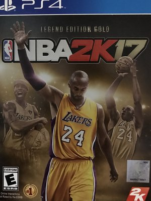 2K17 NBA PS4 黃金傳奇珍藏版  Legend Edition Gold 美版 有中文 缺貨中