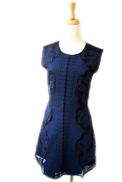 *Beauty*Juicy couture深藍色貼花背心洋裝XS號 6800元WE17