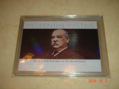 美國總統 Grover Cleveland  2004 Topps Chrome Refractor President Pastime #PP22 球員卡