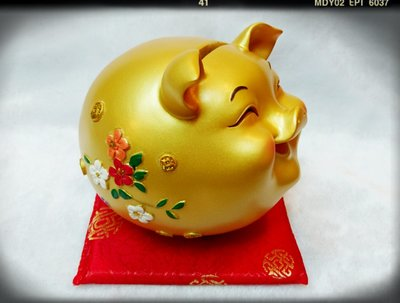 【Aileenの藝品小舖】豬年吉祥物金喜豬 撲滿 存錢筒  /  招財進寶 /  過年 喜氣 新北市