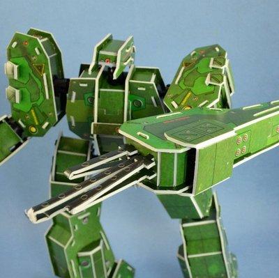 佳廷家庭 親子DIY紙模型立體勞作3D立體拼圖專賣店 機器人裝甲獸 劍魚座 關節可動 麥克羅伯