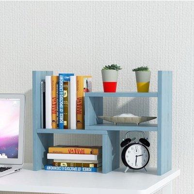 電腦桌上小書架桌面書柜學生用簡易置物架...
