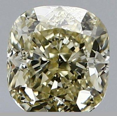 俐格鑽石珠寶批發 GIA 枕形黃彩鑽 Fancy Light Yellow 1.06克拉 特價93,000