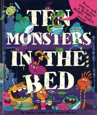 *小貝比的家*TEN MONSTERS IN THE BED /精裝有聲書/3~6歲