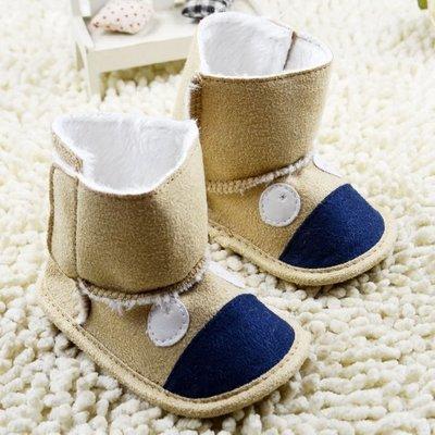 森林寶貝屋~寶寶杏色造型靴子~學步鞋~...