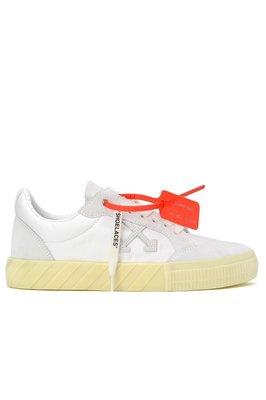 MERCI✰OFF WHITE Low Vulcanized Arrows 箭頭 休閒鞋 Logo 麂皮 尼龍布 現貨