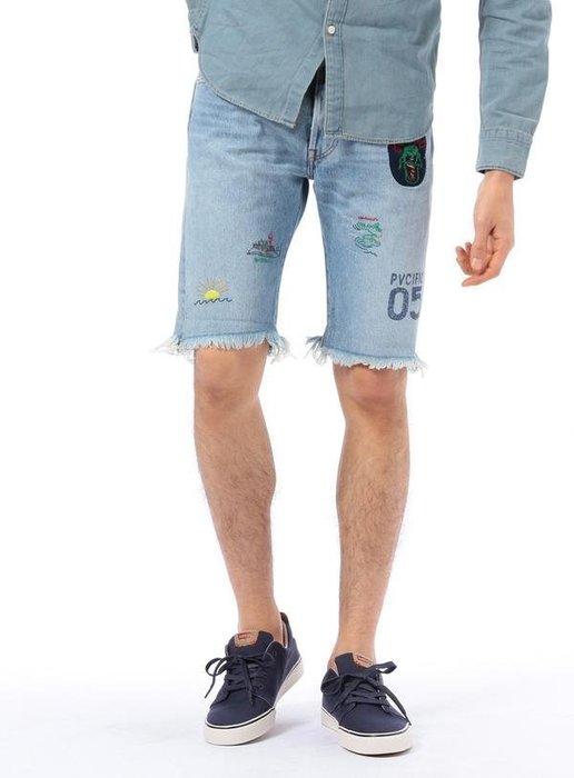 「NSS』LEVI'S LEVIS 501 Denim short 34512 0038 刺繡貼布 牛仔短褲