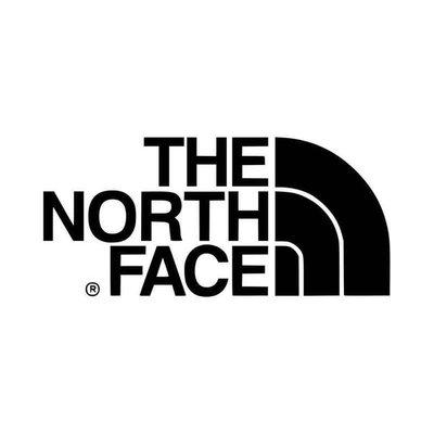 The North Face 白底黑字 方框 LOGO 3M防水貼紙 尺寸88mm